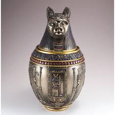 Canopic Jar Designs Egyptian Bastet Canopic Jar Bronze Colored Goddess Cat 9 75