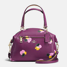 item 2 NWT COACH 37159 COACH PRAIRIE SATCHEL PURSE FLORAL PRINT LEATHER  PURPLE PLUM BAG -NWT COACH 37159 COACH PRAIRIE SATCHEL PURSE FLORAL PRINT  LEATHER ...
