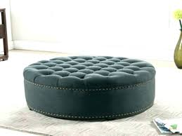 large round ottoman coffee table round tufted coffee table decoration large round ottoman tufted top leather