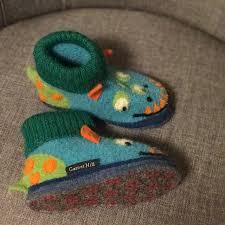 Garnet Hill Boiled Wool Monster Slippers