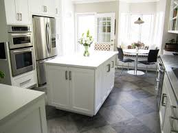 white shaker kitchen cabinets grey floor. White Kitchen Grey Floor Tile Home Interior Design Shaker Cabinets