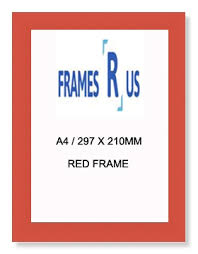 Red Photo Frames A4 297 X 210mm Red Certificate Frames