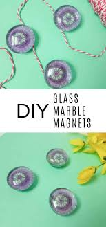 these diy glass marble magnets are super easy to make and you can make them to