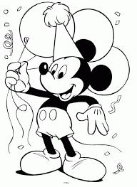 Mickey Mouse Coloring Sheet Disney Birthday Birthdays Party