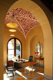 interesting red handmade stencil for the home office design sinclair associates architects with wall arch designs