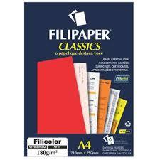 Envio para todo o brasil! Papel Filicolor Colorplus A4 210x297mm 180g Vermelho Cx 50 Folhas Filiperson Papeis Magazine Luiza