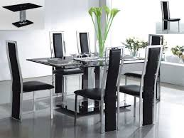 glass dining table set enchanting modern glass dining roo table and chairs fabulous room set