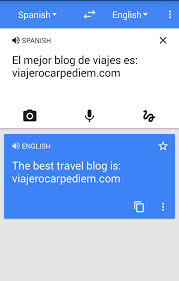 screenshot traductor de google viajerocarpem