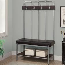 foyer furniture ikea. Entryway Bench With Rack Gray Coated Wrought Iron Foyer Shoe Boxes And Leather Padded Seat Hall Tree Ikea Plus Ideas Furniture O