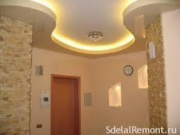 plasterboard ceiling in the hallway