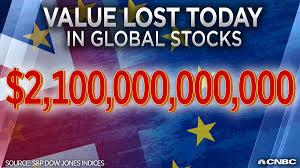 Brexit Stock Market Crash Chart Brexit Panic Wipes 2 Trillion Off World Markets As It