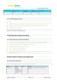 Simple Project Planning Template Simple Project Plan Template Free Download Project