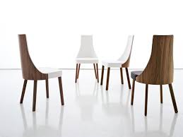 Wood Contemporary Leather Dining Chairs