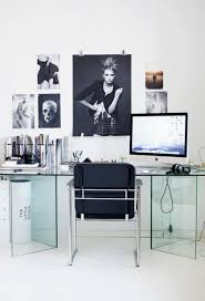 furniture impressive modern home office showcasing tempered glass desk material with integrated bookshelves and gable