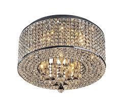 flush chandelier heaven 7 light flush mount chrome crystal chandelier chandeliers flush mount