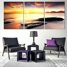 office art ideas. Captivating Canvas Photo Prints Sea Sunset Home Office Artwork Paintings Decor Art Room Ideas Wall A