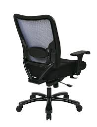 com space seating big and tall airgrid back and padded mesh seat adjule arms metal finish base ergonomic managers chair black kitchen