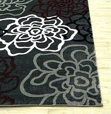 red black and white rugs area grey rug fl gray a