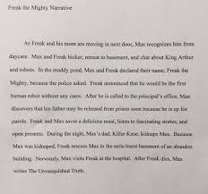 freak the mighty essay daily schedule notes ms shawn s website  buy original essay best resume writing services brisbane buy original essay