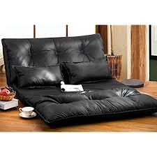 video game room furniture. Merax Pu Leather Foldable Modern Leisure Sofa Bed Video Gaming With Two Pillows, Black Game Room Furniture