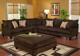brown sectional sofa popular sectional couch and two tone tan microfiber dark brown faux decor