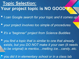 science fair topics the two r s rigorous and relevant gifted 3 topic