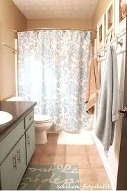 bowed shower curtain rod graceful curved rods bring luxury to small installation height