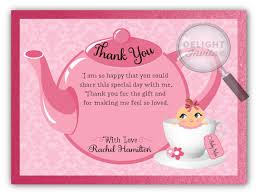 Thank You Cards Baby Shower Pink Girl Baby Shower Thank You Cards Di 4501ty Harrison