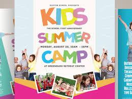 Kids Summer Camp Flyers Vol 02 By Kinzi Wij Dribbble Dribbble
