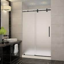 frosted sliding glass shower doors. Delighful Glass Aston Langham 48 In X 36 775 Frameless Sliding Shower And Frosted Glass Doors S