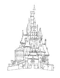 limited disney castle coloring pages page free printable