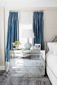 blue and gray curtains