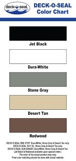 Self Leveling Coverage Chart Product Colors Deck O Seal