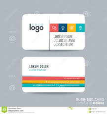 simple clean business card design stock vector image  simple clean business card design