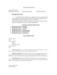 Standard Resignation Letter Standard Resignation Letter With Notice ...