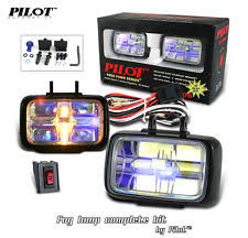 pilot automotive car and truck fog driving lights 4 car jdm universal 12v h3 55w fog lights driving lamps harness kit car truck