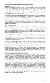4 FREE ESL history of english language worksheets