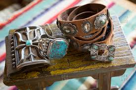 native american jewelry in santa fe new mexico stock photo offset