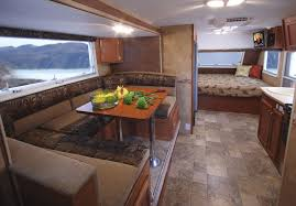 Travel trailers interior Sporttrek Forest River Inc Lancetraveltrailer1575interior
