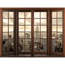 Fototapeten Tapete Fototapete Vlies Fenster Nach New York Wandbilder