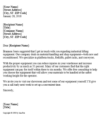 Sales Letter Sales Letter For Industrial Equipment Company
