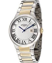 rotary gents stainless steel round white dial black leather strap rotary mens watch gb02525 01 white dial and stainless steel bracelet