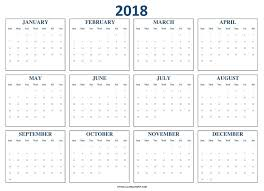 blank 2018 calendar 2018 calendar blank template to print yearly 2018 calendar
