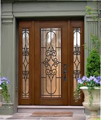 Decorating: Elegant Dark Brown Screen Doors Lowes With Iron Security ...