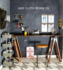 creating office space. Chalkboard-wall-sawhorse-desk-office-space-6 2 Creating Office Space
