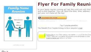 Family Reunion Flyer Templates Free Free Family Reunion Templates Class Reunion Invitation Templates