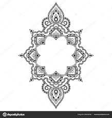круговой узор виде мандалы хны менди тату украшения декоративный