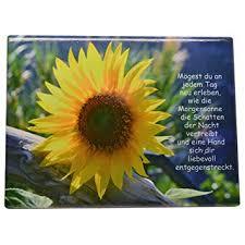 Wanddeko Spruchtafel Keramik Bildtafel Sonnenblume Mit Spruch