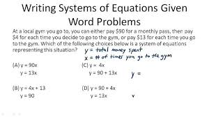 s of linear systems algebra ck 12 foundation sample word problem