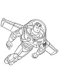 Small Picture Buzz Lightyear is Flying Using His Wing in Toy Story Coloring Page